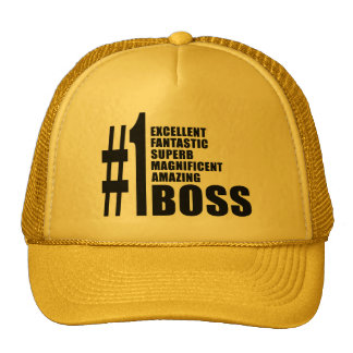 Bosses Birthdays Gifts : Number One Boss Trucker Hats