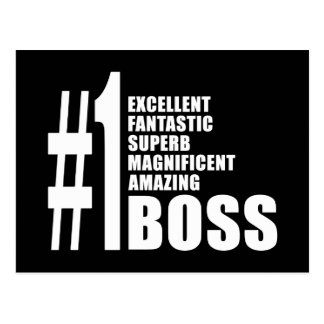 Bosses Birthdays Gifts Number One Boss Post Card