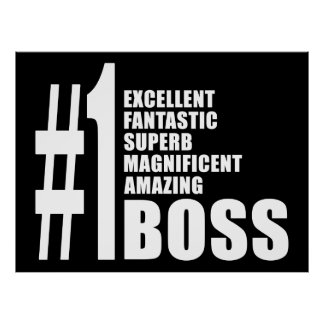 Bosses Birthdays Gifts : Number One Boss Print