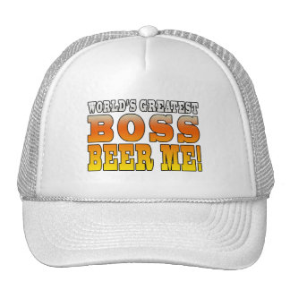 Bosses Office Parties Worlds Greatest Boss Beer Me Hats