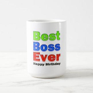 Boss's Birthday Gift Best Boss Ever Coffee Mug