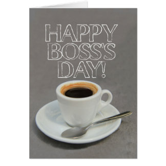 Boss's Day Coffee Card