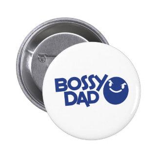 bossy dad 2 inch round button