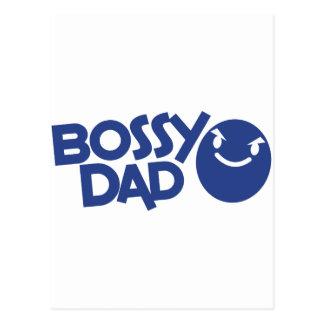 bossy dad postcard