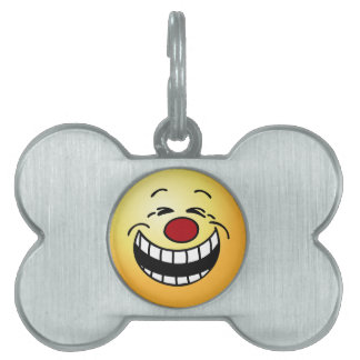 Bossy Smiley Face Grumpey Pet Tags