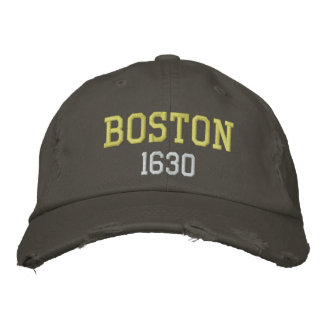 Boston 1630 embroidered hat