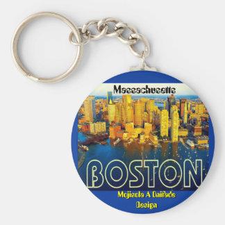 boston 2, Massachusetts - Customized Keychain