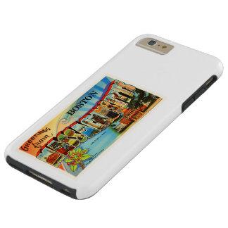 Boston #2 Massachusetts MA Vintage Travel Souvenir Tough iPhone 6 Plus Case