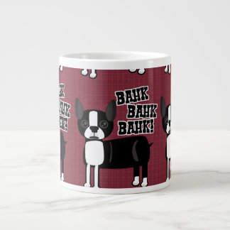Boston Accent Terrier Pattern Large Coffee Mug