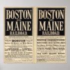 Boston and Maine Railroad Poster