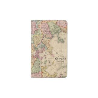 Boston and vicinity pocket moleskine notebook