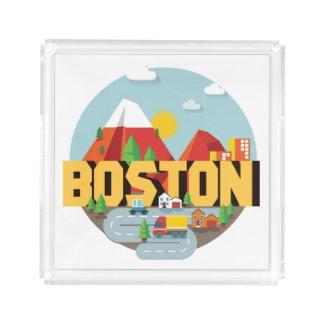 Boston As A Destination Acrylic Tray