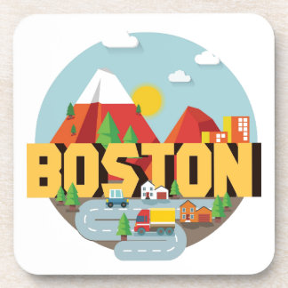 Boston As A Destination Beverage Coasters