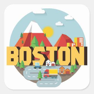 Boston As A Destination Square Sticker