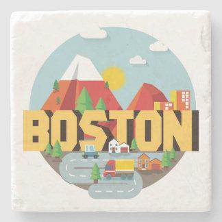 Boston As A Destination Stone Beverage Coaster