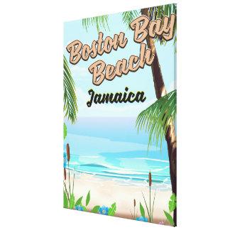 Boston bay beach, Jamaica Canvas Print