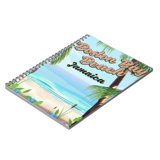 Boston bay beach, Jamaica Spiral Notebook