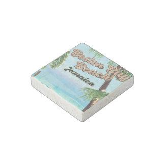 Boston bay beach, Jamaica Stone Magnets