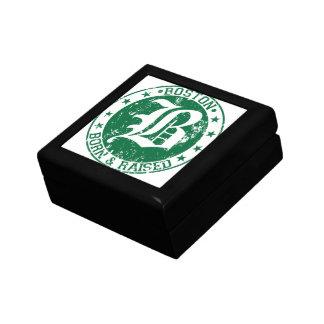 Boston born raised green jewelry box