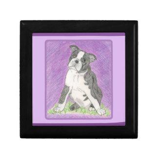 Boston Bull Terrier Jewelry Boc Gift Box