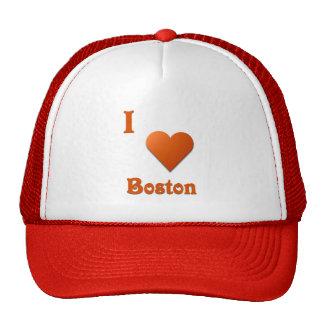 Boston -- Burnt Orange Mesh Hats