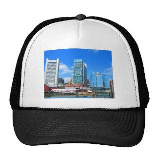 Boston City Buildings n Urban Landscape Trucker Hat