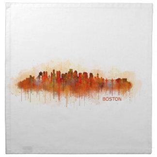 Boston City Massachusetts skyline v3 Napkin
