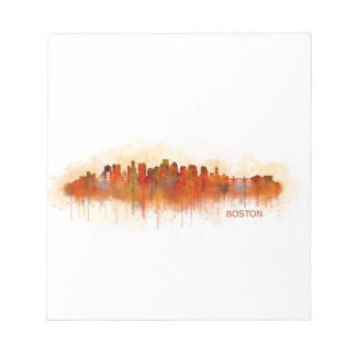 Boston City Massachusetts skyline v3 Notepad