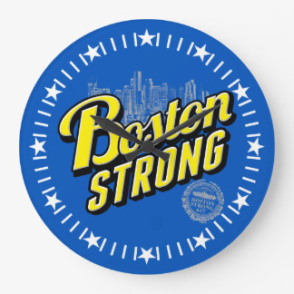 Boston City Strong Remembers on Blue Dial Large Clock