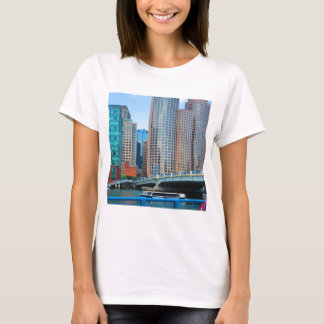 Boston  city Urban Landcape towers arcchitecture T-Shirt
