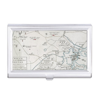BOSTON-CONCORD MAP, 1775 BUSINESS CARD HOLDERS