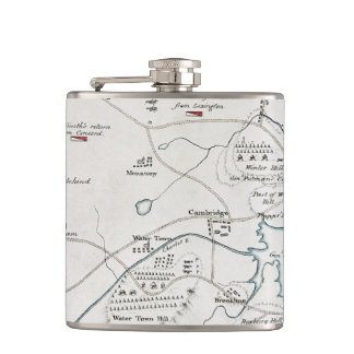 BOSTON-CONCORD MAP, 1775 FLASK
