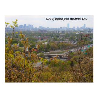 Boston from Middlesex Fells Overlook in Spring Postcard