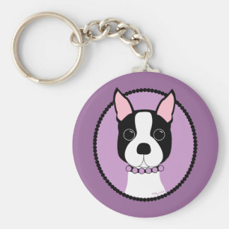 Boston Girl! Purple Keychain