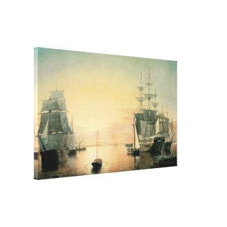 Boston Harbor 1850-55 Gallery Wrap Canvas