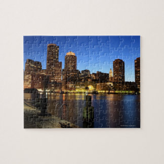 Boston Harbor and skyline.  Boston is one of the 7 Jigsaw Puzzle