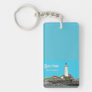 Boston Harbor Lighthouse Keychain