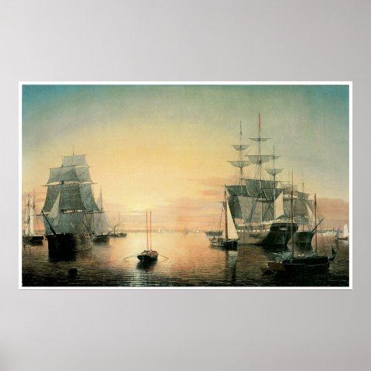 Boston Harbour, 1850-55 Poster