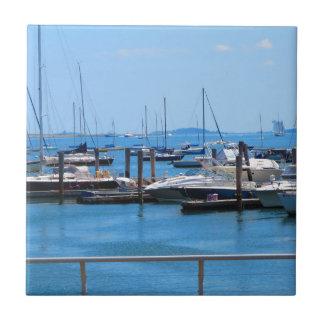 Boston Harbour Boats Sail SailBoats Lake views Ceramic Tile