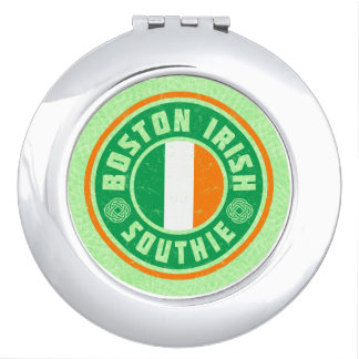 Boston Irish American Southie Compact Vanity Mirror