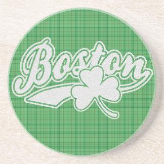 Boston Irish Shamrock Coaster