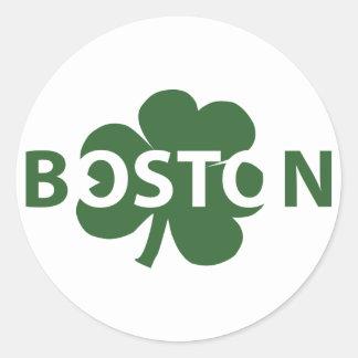 Boston Irish Shamrock Label