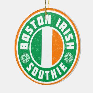 Boston Irish Southie Decoration Round Ceramic Ornament