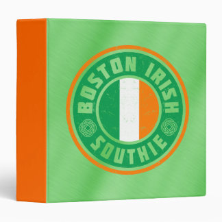 Boston Irish Southie Vinyl Binder