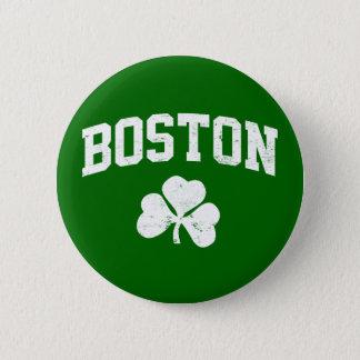 boston irish st patrick's shamrock clover southi 2 inch round button