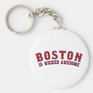 Boston is Wicked Awesome Basic Round Button Keychain