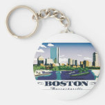 Boston, le Massachusetts Porte-clé Rond