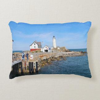 Boston Lighthouse, Massachusetts Accent Pillow