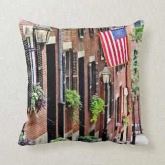 Boston MA - Acorn Street Throw Pillow