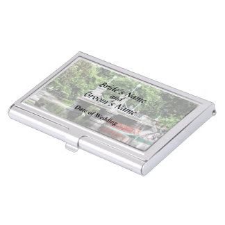 Boston MA - Boston Public Garden Bridge Business Card Cases